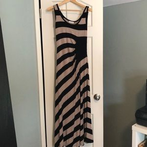 EUC Calvin Klein Striped Maxi